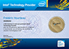 Certificat Intel Technology Provider pour entreprise - Dépannage, installation et formation informatique Paris