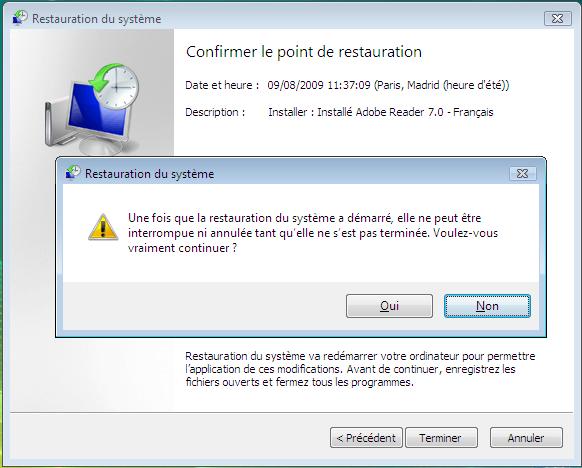 illustration d'une restauration système sous windows étape 4 - dépannage et formation informatique Paris